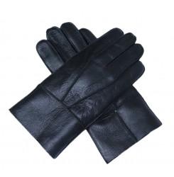 Мужские перчатки из кожи с мехом