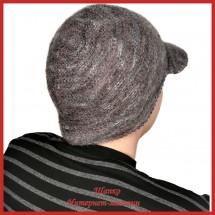Мохеровая вязаная кепка Амандо