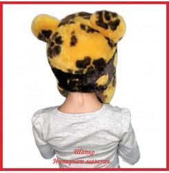 Мутоновая детская шапка - ушанка Барни