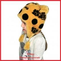 Мутоновая детская шапка - ушанка Барни 1