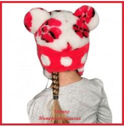 Мутоновая детская шапка - ушанка Барни 2