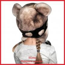 Мутоновая детская шапка - ушанка Барни 4