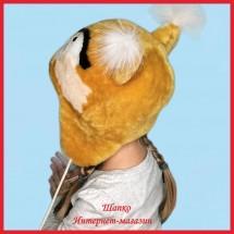 Детская меховая шапочка Солнечная Белочка