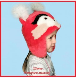 Детская меховая шапочка Малиновая Белочка