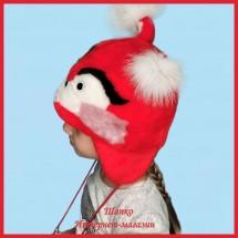 Детская меховая шапочка Красная Белочка
