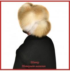 Модная шапка - ушанка Бурильщик из норвежской лисы