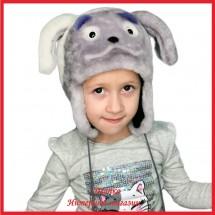 Меховая зверошапка Дружок для детей