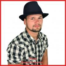 Мужская фетровая шляпа Федора 3