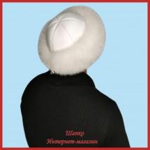 Теплая монголка Горец 3 из песца с кожей