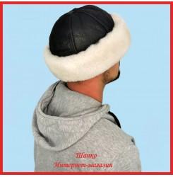 Зимняя монголка Горец из овчины с кожей