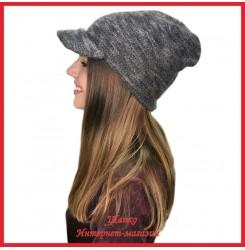 Женская кепка из мохера
