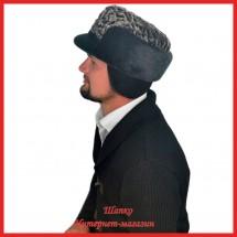 Мужская комбинированная Жириновка из каракуля с нерпой