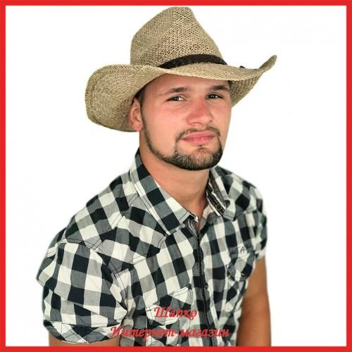 Американская ковбойская шляпа из соломы