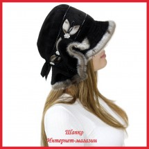 Шляпа замшевая Лерочка 3 с нерпой