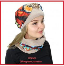 Комплект Леслия 1 (шапка, снуд)