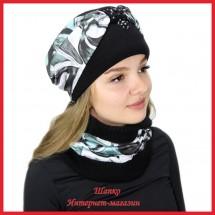 Комплект Леслия 8 (шапка, снуд)
