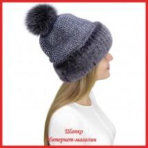 Трикотажная шапка  с норкой Лыжница 2