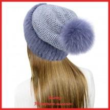 Трикотажная шапка  с норкой Лыжница 3