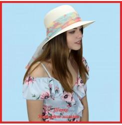 Шляпа Мадалина 1 из пальмовой соломки