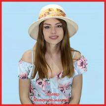 Шляпа Мадалина из пальмовой соломки