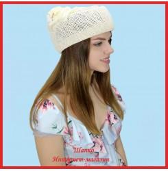 Шляпка-таблетка Маделина из рисовой соломки