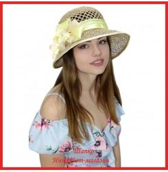 Шляпка Мадер из рисовой соломки
