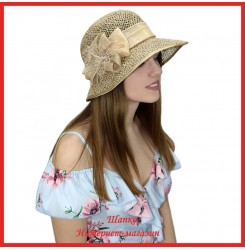 Шляпка Мадхи из рисовой соломки