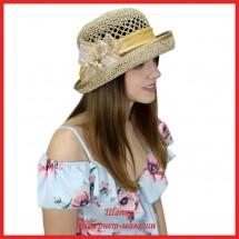 Шляпка Маджента из рисовой соломки