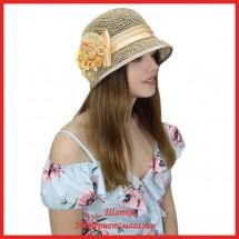 Шляпка Мадрина из рисовой соломки