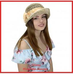Шляпка Мадрона из рисовой соломки