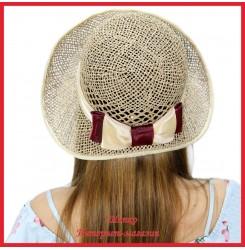 Шляпка Магдалена из рисовой соломки