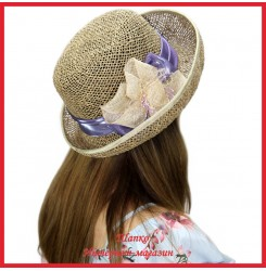 Шляпка Магелана из рисовой соломки