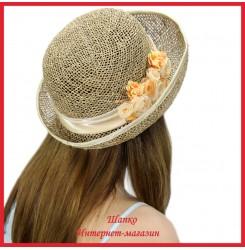 Шляпка Магиша из рисовой соломки