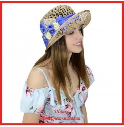 Шляпка Маиза из рисовой соломки