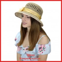 Шляпка Мажена из рисовой соломки
