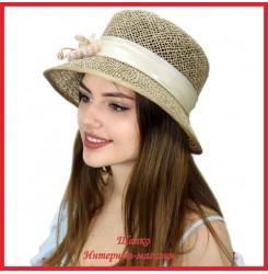 Шляпка Макензи из рисовой соломки