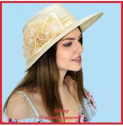 Шляпа Макрина из пальмовой соломки