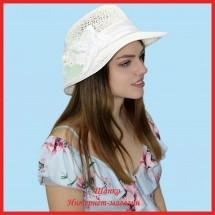 Шляпка Малинда из рисовой соломки
