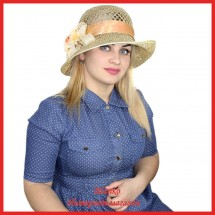 Шляпа Мамету из рисовой соломки