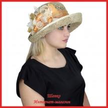Шляпа Марфа из рисовой соломки