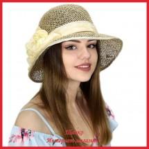 Шляпа Маргарет из рисовой соломки