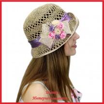 Шляпка Маргинала из рисовой соломки