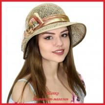 Шляпка Маргита из рисовой соломки