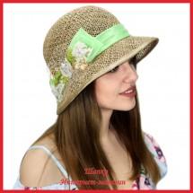 Шляпка Маргита из рисовой соломки 1