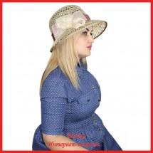 Шляпа Марша из рисовой соломки
