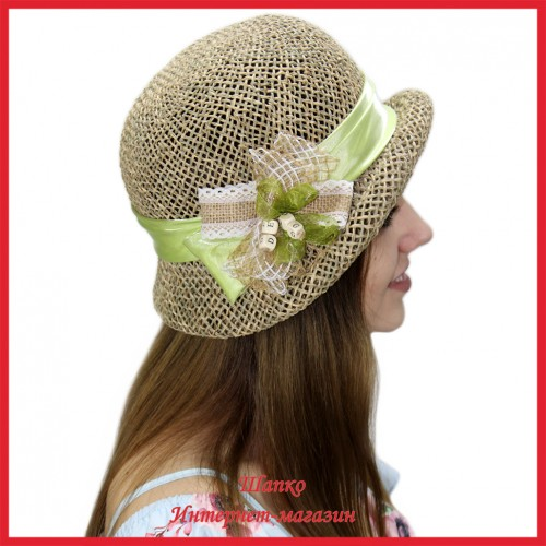Шляпа Марва из рисовой соломки