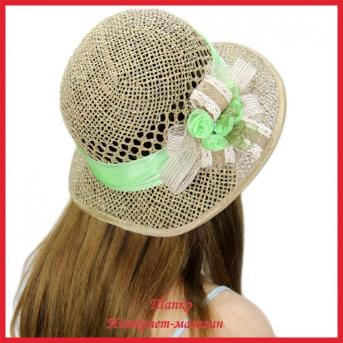 Шляпа Марвана из рисовой соломки