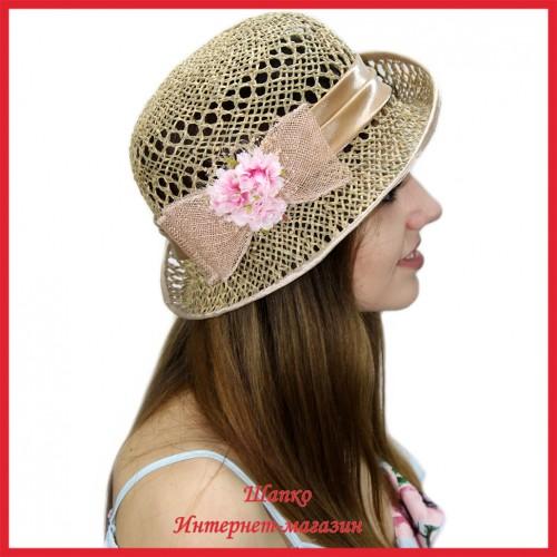 Шляпка Маравела из рисовой соломки