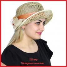Шляпка Марвия из рисовой соломки