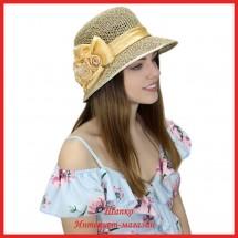 Шляпка Май из рисовой соломки